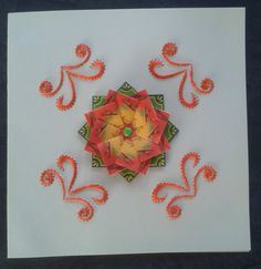 combi borduren op papier en theezakjes vouwen