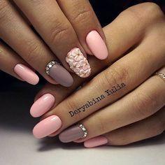 Decorative nails, Dimension nails, Evening dress nails, Fashion nails 2016, flower nail art, Matte nails, Nail art decoration, Nail Design 2016