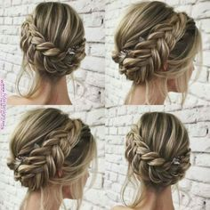 45 unique summer wedding hairstyles ideas 52 in 2019 Bridal Hair Updo, Wedding Hair And Makeup, Hair Makeup, Summer Wedding Hairstyles, Formal Hairstyles, Gorgeous Hairstyles, Bridal Hairstyles, Short Hair Prom Updos, Prom Hairstyles For Medium Hair