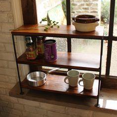 rack/Kitchen/Iron/Wood