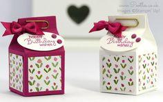 Mini Milk, Milk Box, Milk Carton Crafts, Origami, Envelope Punch Board, Treat Holder, Carton Box, Pillow Box, Craft Box