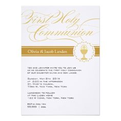 Fancy Script First Communion Invitations     Twins For the boys I would do blue....like it