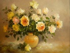 """New DIY Acrylic Paint By Number 16""""x20"""" kit Beauty Yellow Rose F&SH"""