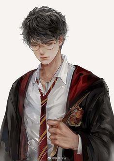 #anime #manga #fanart  #ilustration #drawing Harry James Potter, Harry Potter Anime, Arte Do Harry Potter, Harry Potter Artwork, Harry Potter Drawings, Harry Potter Wallpaper, Harry Potter Universal, Harry Potter World, Hogwarts