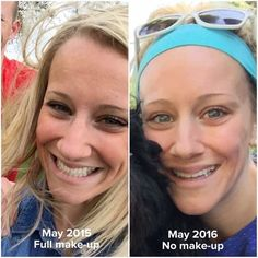 """Faith Jenkins had FAITH!   """"I have a truck load of make up on in the 2015 picture, and no make up on in the 2016! No filters or edits made on either!  I used REDEFINE regimen morning/night for about 11 months as a PC. Became a consultant and added the AMP MD system at night for about 2 weeks, and now use REVERSE in the morning and REDEFINE AMP it up in the evenings!"""""""