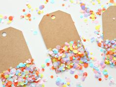 MIY COLOURFUL CONFETTI GIFT TAGS | HOME :: White House Crafts