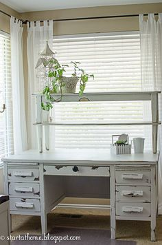 Start at Home: Homemade Chalk Paint & a Beautiful Desk!