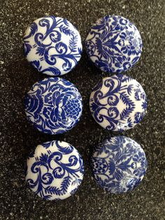 Hey, I found this really awesome Etsy listing at https://www.etsy.com/listing/176283536/6-wooden-decorated-drawer-knobs-blue