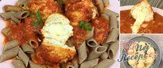 Recept Vynikající masové kuličky plněné mozzarellou Mozzarella, Cauliflower, Chicken, Meat, Vegetables, Cauliflowers, Vegetable Recipes, Veggie Food, Veggies