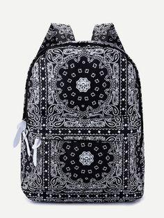 Backpack Outfit, Fashion Backpack, Cute Spiral Notebooks, Timberland Heels, Bandana Design, Bandana Styles, Bandana Print, Cool Backpacks, Designer Backpacks