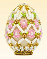 Image result for Пасхальные яйца с описанием бисеро  paas ei met kralen/ beaded easter egg