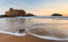 Amaneciendo en la playa de la Arnía #Cantabria #Spain #Travel