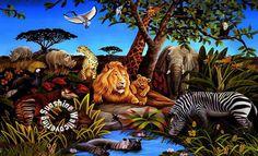 Jungle Mural BZ9103M