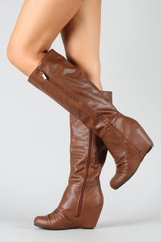 these are only $24. and wedge boots are so comfortable, and cute!