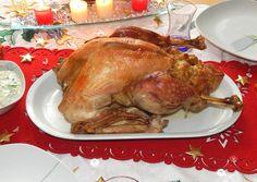 Karácsonyi töltött pulyka recept foto Turkey, Meat, Food, France, Turkey Country, Essen, Meals, Yemek, Eten