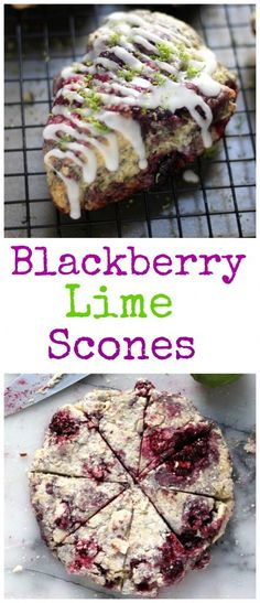 Fresh Blackberry Lime Scones made from scratch!