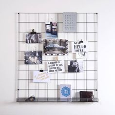 Steel Mesh Wire Noticeboard With Shelf - A minimalist noticeboard with an intergrated shelf, designed and made in England from raw steel wire. Great for making displays or holding letters and notes.The raw steel finish can be sprayed easily with aerosol cans should you want a different finish such as a bright blue, or metallic copper etc.Hang up photos, postcards and notes on the noticeboard using pegs, bulldog clips and paperclips. The intergrated shelf is great for holding post and…