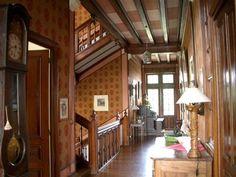19th century French storybook tudor house interior