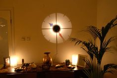 WALL MOUNTED PROJECTION LIGHT CLOCK .shadow PERFECT GIFTt