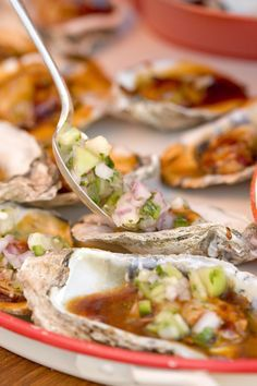 Grilled oysters are an all time favorite at my house. We love these Chipotle BBQ Oysters with Homemade Salsa Fresca.