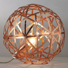 John Lewis Nova Copper Ball Table Lamp - contemporary - products - Darlings Of Chelsea Copper Table Lamp, Copper Lamps, Copper Lighting, Copper And Brass, Mad About The House, Copper Rose, Rose Gold, Lighting Concepts, I Love Lamp