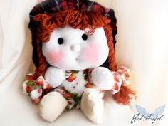 Textile dolldecorative doll cotton doll   Mirunisa by JadAngel