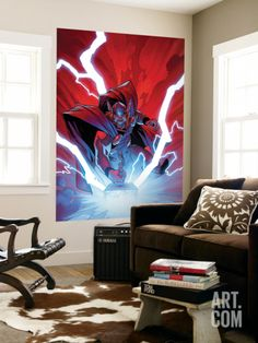 Thor No.9 Cover: Thor Wall Mural by Olivier Coipel at Art.com