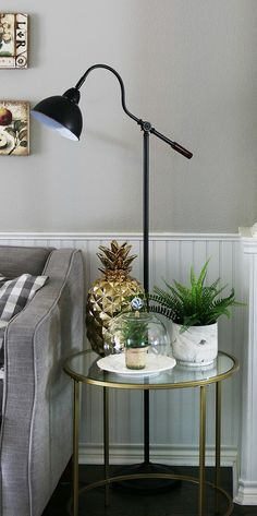 Living Room Ideas on a Budget Floor Standing Lamps, Floor Lamp, Living Room On A Budget, Decorating On A Budget, Better Homes And Gardens, Ceiling Lamp, Home Remodeling, Light Fixtures, Diy Home Decor