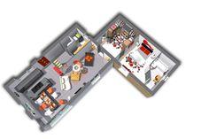 L'intérieur de ce modèle de maison Confort, tient bien son nom. En effet en entrant dans la maison vous apercevrez un bel espace à manger avec salle à manger et cuisine. Vous apercevrez également un spacieux salon dans lequel la détente est garantie. Pour finir vous aurez à disposition une buanderie ainsi que des toilettes. En continuant dans la maison vous arriverez dans un grand dressing donnant accès à une somptueuse chambre parentale.