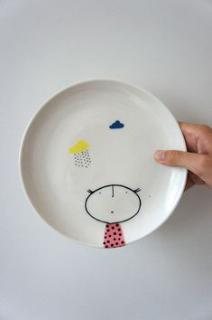 Hey, I found this really awesome Etsy listing at https://www.etsy.com/listing/220190810/hand-painted-plate-ceramic-porcelain