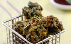 A pakora is a fried vegetable snack originating from India. Chickpea flour is used to create the crispy coating, making these spinach fritters deliciously gluten-free!