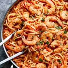 15-Minute Creamy Tomato Garlic Butter Shrimp - Cafe Delites Sea Food Salad Recipes, Shrimp Recipes, Fish Recipes, Pasta Recipes, Shrimp Dishes, Pasta Dishes, Food Dishes, Pasta Sauces, Main Dishes