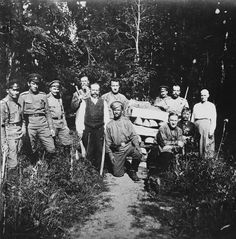 Nicholas and Maria, at the right during their captivity at Tsarskoje Selo, spring 1917