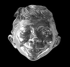 Sterling Silver Alfred E. Neuman Comic Character Ring MAD-Custom Size-Free Ship #Handmade #Statement