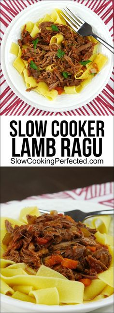 Rich Slow Cooker Lamb Ragu with Bacon