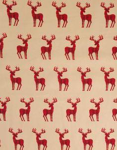 Christmas Cottons Dasher Reindeer Fabric Cream - Main - 103854