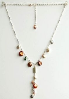 Pearl Medley Necklace  by Harlequin Beads & Jewelry  This festive Pearl Medley Necklace is great to wear for formal and casual occasions. You can apply this design with any kind of bead and it works great for combining odds and ends. Wondering what you can do with your leftover beads? The Pearl Medley Necklace is the solution to those beautiful piles laying on your bead table.