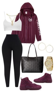 """Untitled #339"" by kamail ❤ liked on Polyvore featuring Victoria's Secret, MCM, Topshop, Michael Kors and Betsey Johnson"