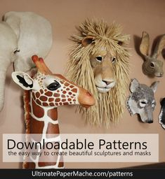 Paper Mache Clay, Paper Mache Sculpture, Paper Mache Crafts, Paper Clay, Paper Mache Animals, Felt Animals, Small Projects Ideas, Art Projects, Art Ideas