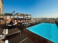 A Hotel Pool in Barcelona  Spain