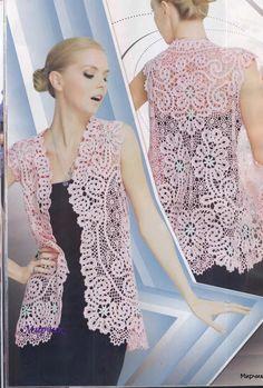 Bruges Lace Crochet Flower Patterns Dresses Embellishment women's lace top skirt cardigan Magazine Duplet 118. $6.99, via Etsy.