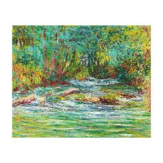 The River of Epte at Giverny, Summer Claude Monet Gallery Wrapped Canvas #canvas #print #home #decoration #painting #Paris #France #art