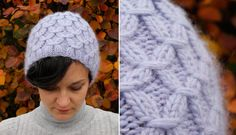 Free knitting pattern for this hat. Love how it looks with the texture