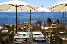 The #terrace of La Escollera restaurant, Es Cavallet, #Ibiza. www.laescolleraibiza.com www.facebook.com/laescolleraibiza