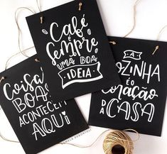 Lettering Tutorial, Chalkboard Lettering, Typography Letters, Diy Notebook, Coffee And Books, Posca, Wood Letters, Christmas Decorations, Handmade