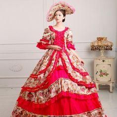 Womens European Court Dress Renaissance Dress