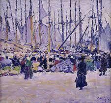 A.W.Finch, Syysmarkkinat. Mikkelin taidemuseo.