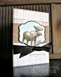 Stampin' Up! Father's Day card created by Melissa @ crazypaperfreak.blogspot.com Hardwood, Walk in the Wild, Gorgeous Grunge, The Open Sea, masculine, handmade, greeting card, dad