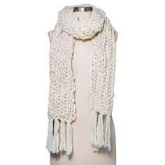 Women's Chunky Knit Scarf Cream (Ivory) - Merona