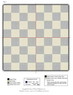 Chess game in plastic canvas